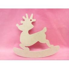4mm MDF  Rocking reindeer 150mm